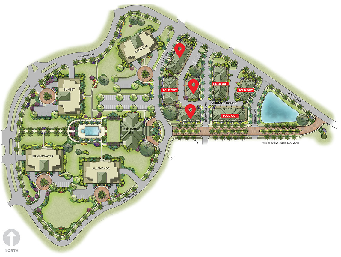 new carriage homes for sale in clearwater florida belleview place